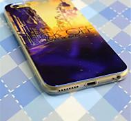 laser luce casa modello in plastica copertura posteriore dura per il iphone 6plus