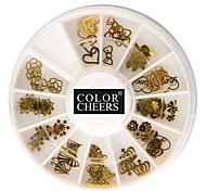 Kits de uñas 60PCS oro suave metal Decoraciones Arte