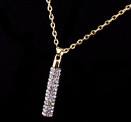 Fashion Jewelry Women's Crystal Necklace (Gold plating)