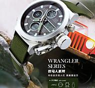 reloj de pulsera militar relojes de los hombres de la correa de lona de doble Movt multifuncionales digitales hombres del reloj del