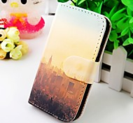 Abou City Figure Wallet Stand PU Leather Case For Samsung Galaxy S2 SII I9100