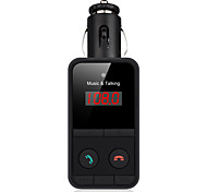 Wireless Bluetooth FM Transmitter Car Cigarette Lighter TF Card/USB MP3 Player Hands-Free Calling for iPhone