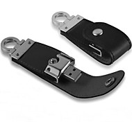 YOUWO Black Brown Leather 64GB USB Cortical Rings Usb Flash Drive