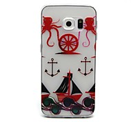 Octopus Anchors Pattern TPU Relief Back Cover Case for Samsung Galaxy S6 Edge