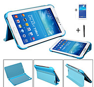 pu lederen case cover voor Samsung Galaxy Tab pro 8.4 T320 + screen protector + stylus + visgraat