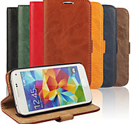 PU Wallet Following from Bark Grain Imports Full Body Cases for Samsung Galaxy S5mini i9600mini(Assorted Color)