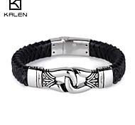 Kalen Men's Jewelry Newest Personalized Men Multi Strand Leather Bracelet
