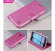 Smooth Silk Pattern with Card Bag PU Full Body Case for Samsung Galaxy  S4 Mini I9190 (Assorted Color)