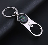 Unisex Alloy Leisure Fashion Compass Bottle Opener Key Chain