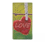 Red Diamond Love Patterns Wallet Card General PU Leather Full Body Case for Gionee Elife E6