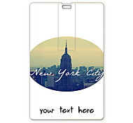 Personalized USB Flash Drive New York City Design 64GB Card USB Flash Drive