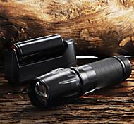 Torce a portachiavi LED 5 Modo 2200 Lumens Messa a fuoco regolabile / Impugnatura antiscivolo Cree XM-L T6 18650 / AAA / 26650