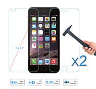 calidad caliente de la venta 2pcs vidrio templado protector de la pantalla de cine frente& detrás para el iphone de apple 6s / 6