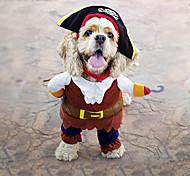 New and Fashionable The Pirates of the Caribbean Suit (Hat and Cloth) Specially Design Clothes For Pets Dogs