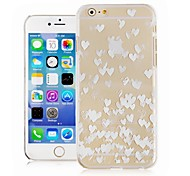 Heart Pattern Transparent Back Cover Case for iPhone6