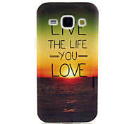 LIVE the Life you Love Pattern TPU Soft Case for Samsung Galaxy J1
