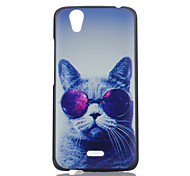 Glasses Cat Pattern Painted PC Phone Case for Wiko Birdy