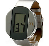 Women's Fashion Round Faux Leather Band Digital Watch (Assorted Colors)