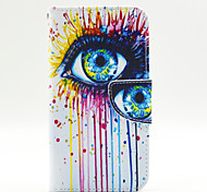 Ink Eye Pattern PU Leahter Full Body Case with Card Slot for Samsung Galaxy J5