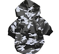 Cat Dog Hoodie Dog Clothes Casual/Daily Fashion Camouflage Gray