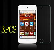 3pcs alta transparencia cristalina lcd protector de pantalla transparente con paño de limpieza para el iPod touch 4