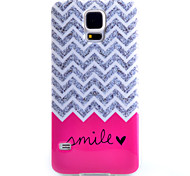For Samsung Galaxy Case Pattern Case Back Cover Case Lines / Waves TPU Samsung S5