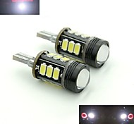 Teso T15 5W DC 11 To 13 V 12PCS  5630/5730 SMD LED 6000-6500K Highlighting Rogue Back-up Lamp Lens LED Brake Lights