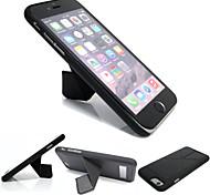 TPU funda de marco plegable caja de cuero dura para Apple iPhone 6 más (colores surtidos)