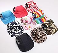 Dog Bandanas & Hats - S / M - Spring/Fall - Red / Black / Green / Blue / Pink / Orange - Leopard - Terylene
