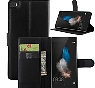 Litchi Around Open Bracket Leather Phone Wallet Card Suitable for Huawei P8 Lite (Assorted Color)