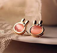 HUALUO®Korean Gemstone Rabbit Earrings