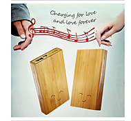 Smart Bamboo Case Mobile Portable Power Bank