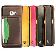 iCoverCase®Genuine Leather Lambskin Sheep Flip Cover Wallet Card Slot Case Stand for Galaxy S6 edge(Assorted Colors)