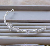 Fashion Simple Style Silver Color Rhinestone Headband For Wedding Or Party A1129A