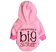 """Lovely """"big sister"""" Pattern Fleece with Hoodie for Pets Dogs  (Assorted Sizes)"""
