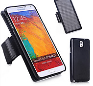 Specially Designed Combination TPU+Genuine Leather+Nylon Wrist Strap Back Cover for Samsung Galaxy Note 3