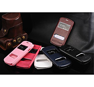 PU Leather Special Design Body  Open the window Case for Samsung Galaxy Star Pro S7262(Assorted Color)