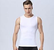 Hommes séchage rapide sportives top hommes gymnase respirant de chars de culturisme de fitness compression collants sans manches t-shirt
