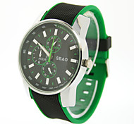 Men's Sports Silicone Band Quartz watch