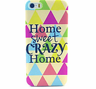 Home  Pattern Transparent Frosted PC Back Cover For  iPhone 5/5S