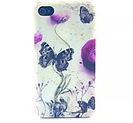 Schmetterlinge Muster transparent gefrostet PC Schutzhülle für iPhone 4 / 4s