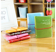 Korean Stylish Plastic Packaging Pinky Color Card Holder (Random Delivery)