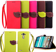 LG G4 PU Leather / TPU / Carbon Fiber Full Body Cases / Cases with Stand Graphic / Special Design / Mixed Color case cover