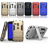Super Protection TPU+PC 2in1 Combo Bracket Shell Protective Sleeve for Motorola moto G (Assorted Color)