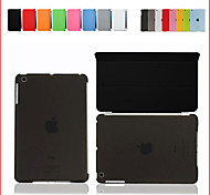 For iPad Mini Smart Cover Case Front leather Cover+Matte Back Cover
