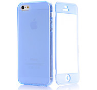 Transparent Flip Free Turn Touch TPU Phone Case for iPhone 5/5S(Assorted Colors)