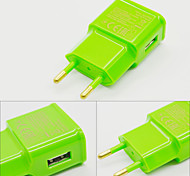 2015 New 2A EU Ac Charger USB Wall Charger Adapter For Iphone And Samsung-Green