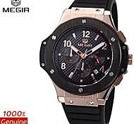 MEGIR®CHRONOGRAPH 24 Hours Waterproof Men's Sport Watch Silicone Luxury Watch Men Brand Army Watch (Assorted Colors)