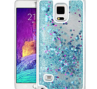 High Quality Quicksand Star Glitter PC Hard Case for Samsung Galaxy Note 4(Assorted Colors)