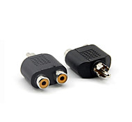 RCA 1*Male to 2*Female Adapter